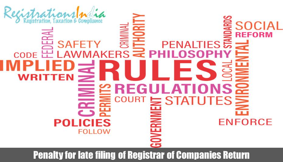 Penalty for late filing of Registrar of Companies Return Image