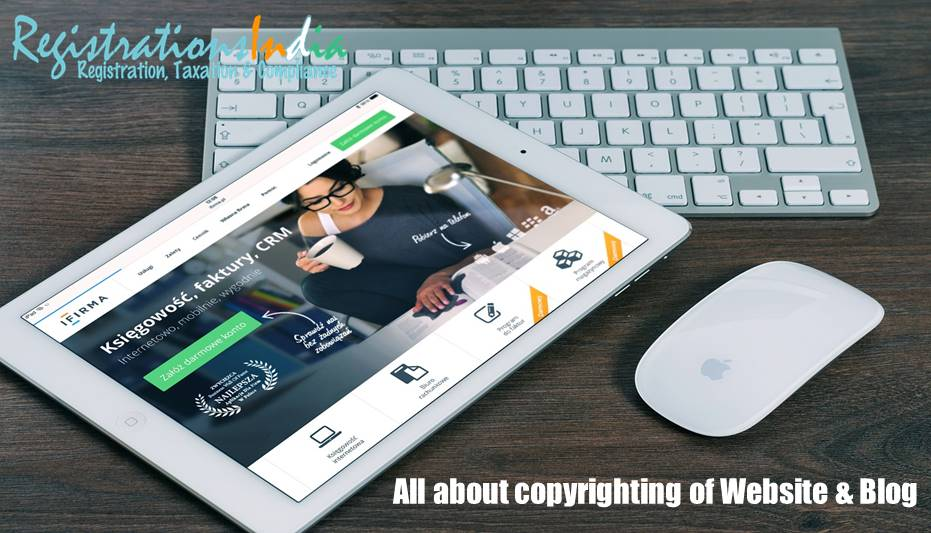 All about copyrighting of Website & Blog image