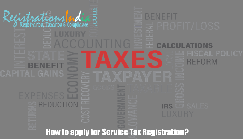 How to apply for service tax registration image