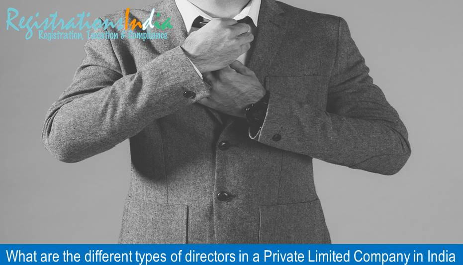 What are the different types of directors in a Private Limited Company in India image