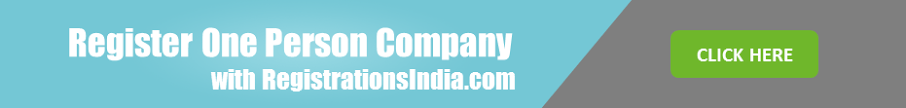 Register One Persone Company In India