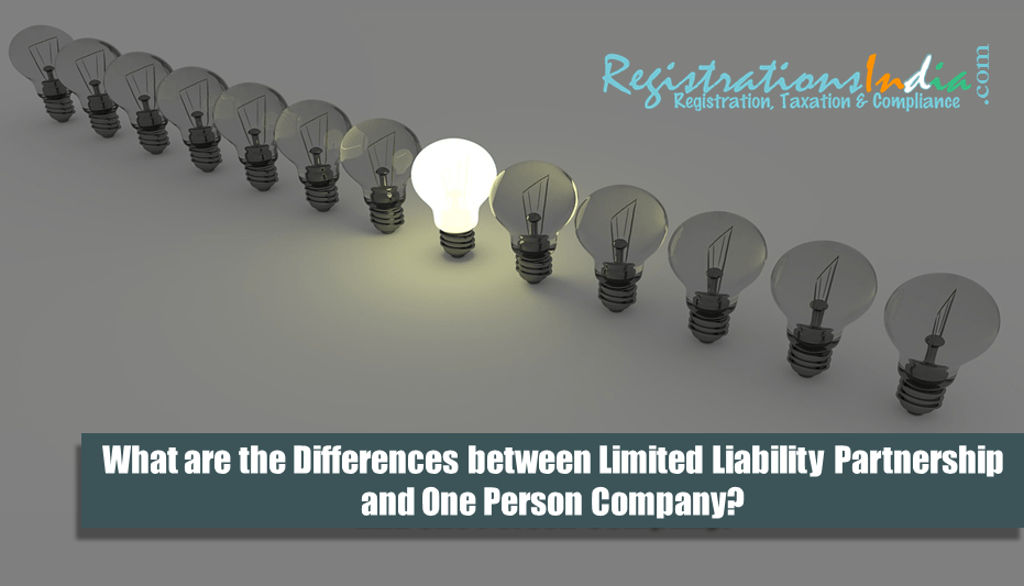 Differences between Limited Liability Partnership & One Person Company image