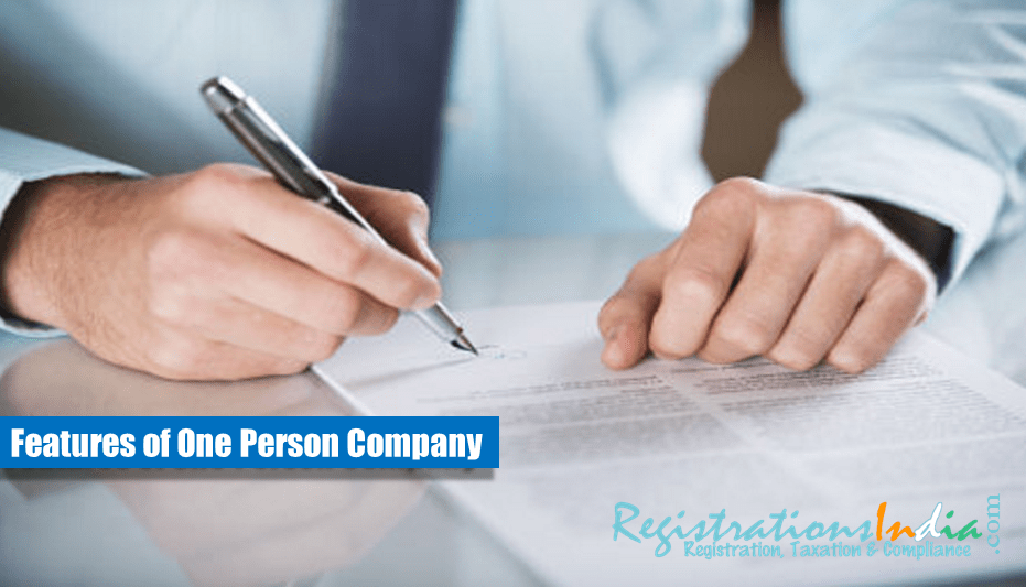 What are the features of One Person Company