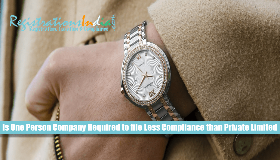 Is OPC Required to file Less Compliance than Private Limited Company?