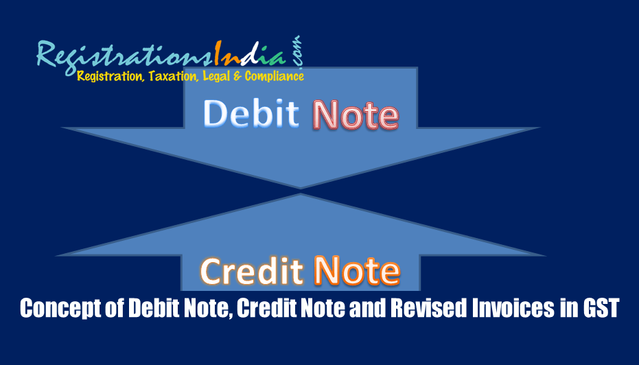 Concept of Debit Note, Credit Note and Revised Invoices in GST